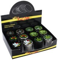 Grinder ''Cannabis'' 4 Parts 40mm 12 Stk.