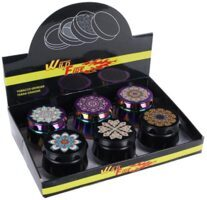 Grinder ''Mandala'' 4 Parts 50mm 6 Stk.
