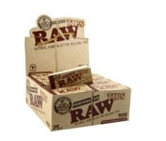 RAW Perforated Tips Wide 25 x 58mm (50x50)